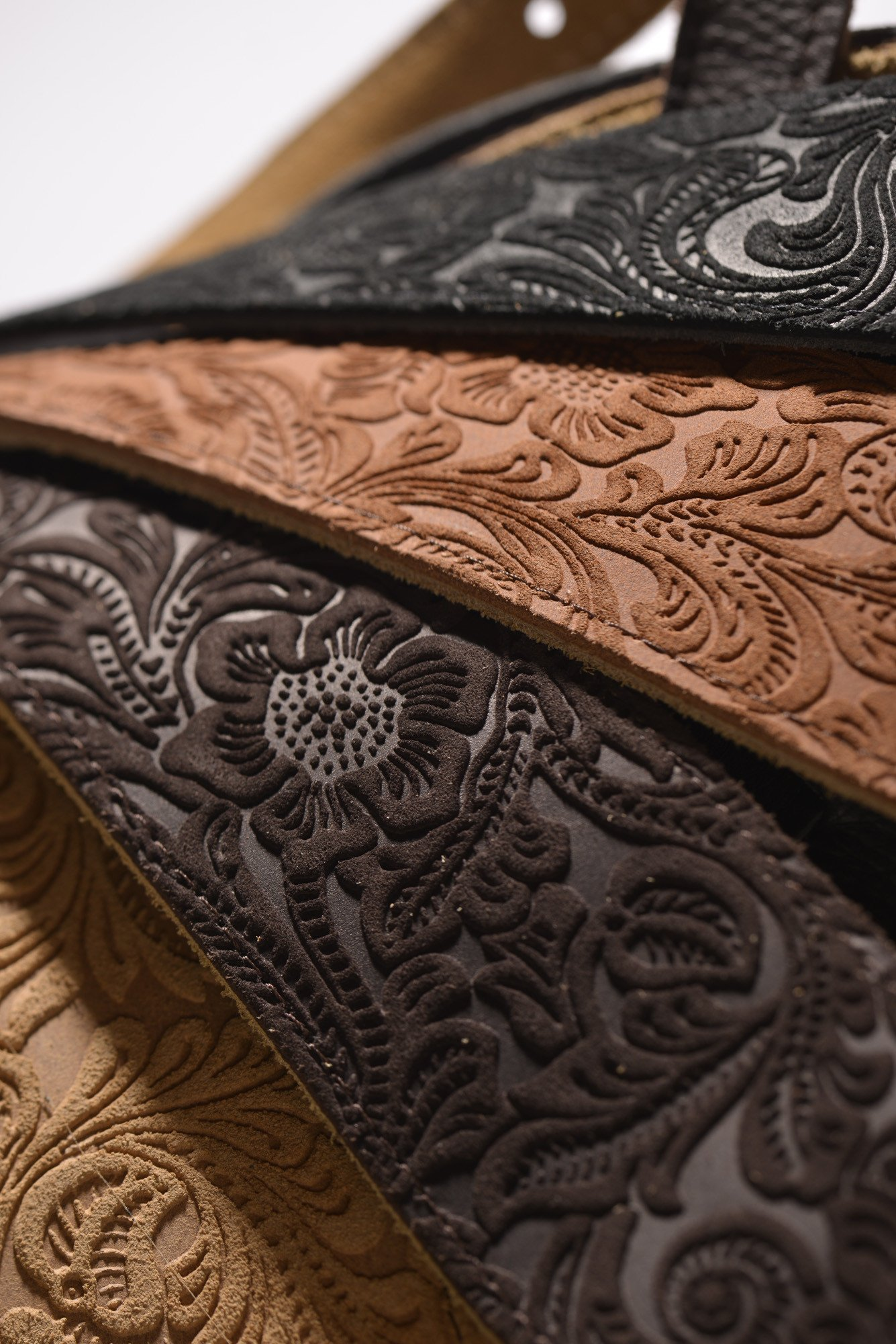 Embossed Suede Guitar Strap