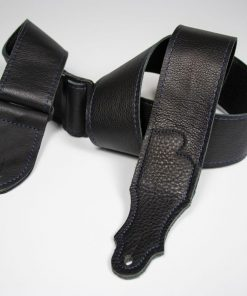 Deluxe 60 - 2'' All Black Leather Guitar Strap