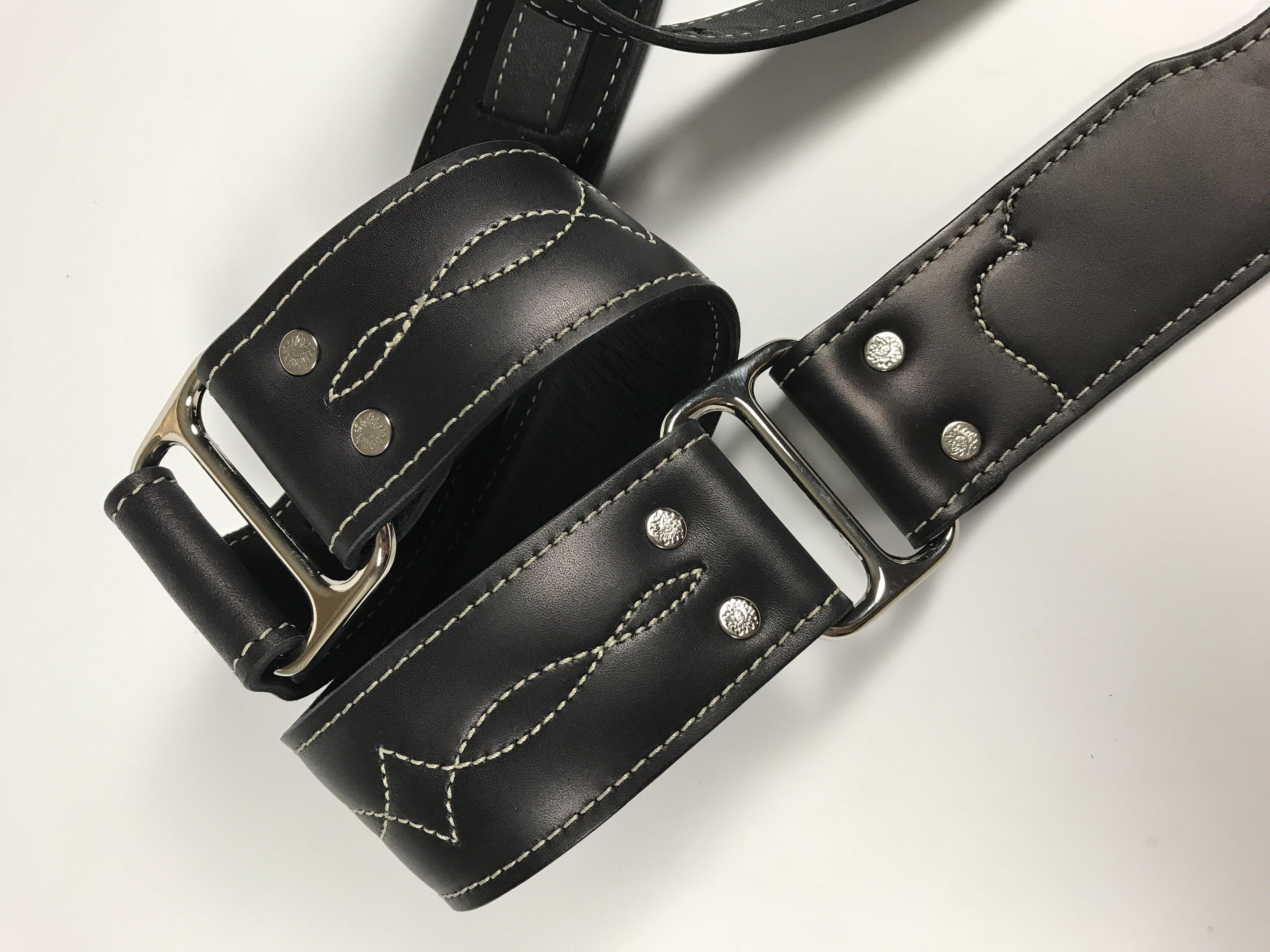Leather & Chrome Guitar Strap