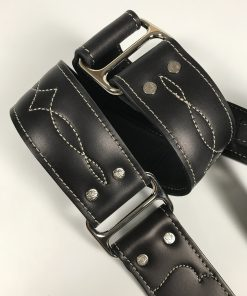 Leather & Chrome Guitar Strap